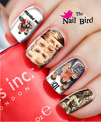 20 Mixed Set ONE DIRECTION Nail Waterslide Decals Nail Transfers Nail WRAPS