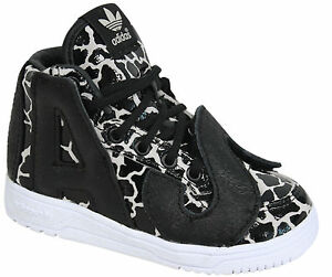 buy online e1dd2 0bbaf Image is loading Adidas-Originals-Jeremy-Scott-JS-Giraffe-Print-Shoes-