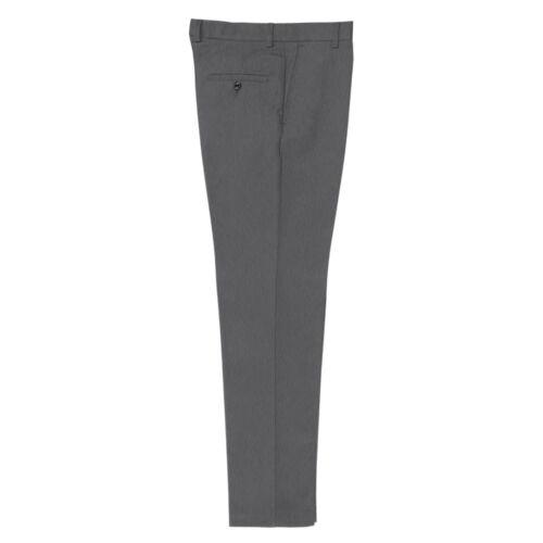 Boys Mens Slim Fit Regular Leg Waist Trousers Formal Work School Uniform Slim