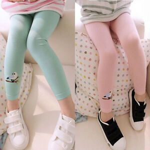 Child-Baby-Kids-Girls-Cotton-Cute-Birds-Stretchy-Pattern-Pants-Leggings-Trousers