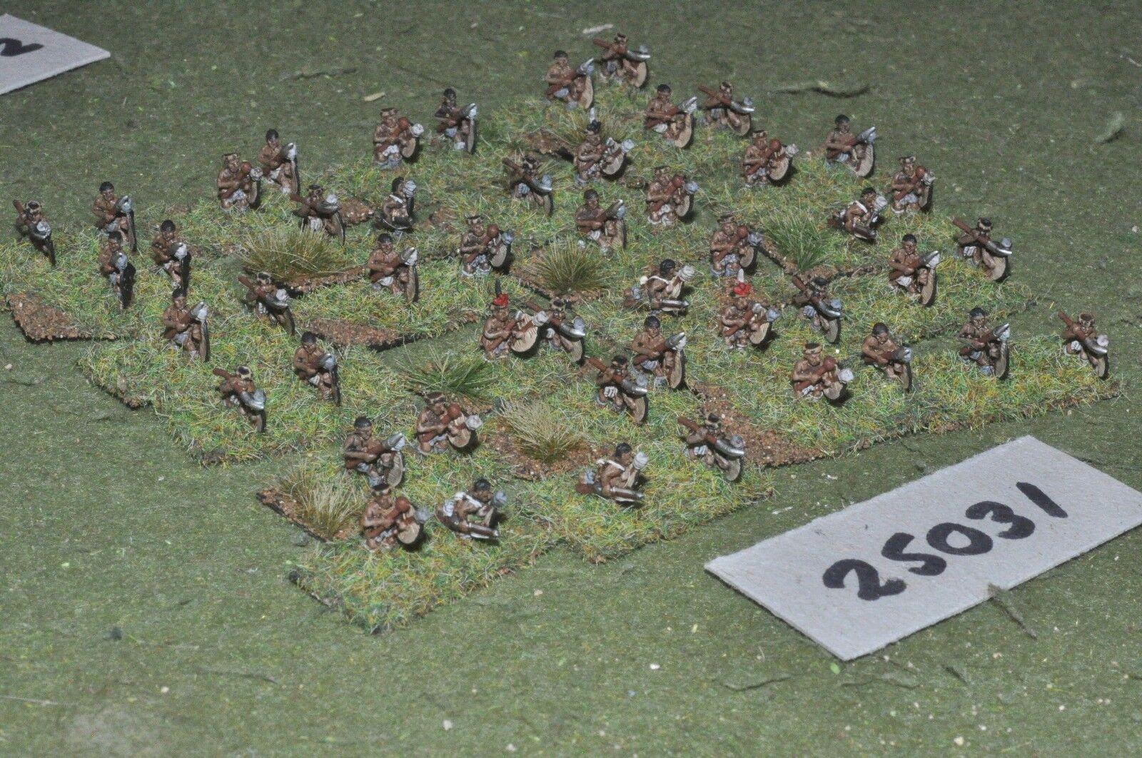 10mm colonial   zulu - warriors 48 figures - inf (25031)