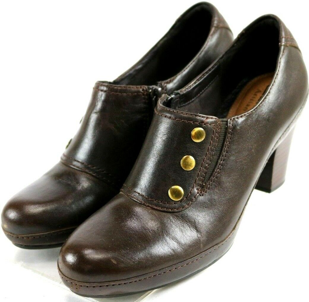 Clarks Artisan Vermont Terrace Boots  120 Women's Booties shoes Size 6.5 Brown