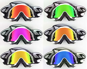 GOGGLE-SHOP-REPLACEMENT-MIRROR-LENS-to-fit-OAKLEY-CROWBAR-MOTOCROSS-GOGGLES-NEW
