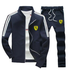 Men Outfit TrackSuit Jacket Bottom Sport Suit Sets Pants Trouses Strips Jogging