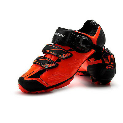 Tiebao MTB Cycling Shoes for Shimano SPD System Bike Bicycle Shoes Black Green