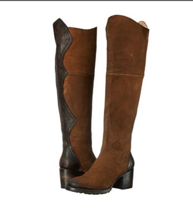Freebird By Steven Fuego Slouch Boot Tan Suede  Leder Size 8 NIB Msrp $350
