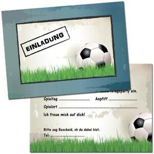 Einladungskarten Kindergeburtstag Fussball Einladung Fussball
