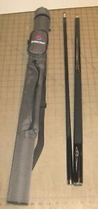 SPORTCRAFT Black Graphite 20oz Pool Cue with Gray Case/Chalk & Extra Tips