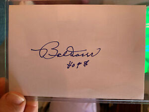 bobby doerr autographed 4x6 Index Card