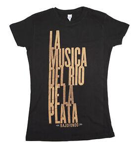 BAJOFONDO-LA-MUSICA-DEL-RIO-DE-LA-PLATA-WOMEN-BLACK-T-SHIRT