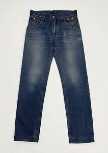 Dolce-gabbana-DG-jeans-uomo-usato-slim-denim-boyfriend-W32-tg-46-straight-T5169