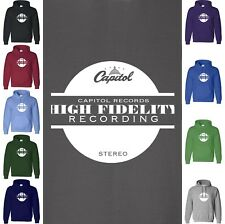 Capitol Records HIGH FIDELITY Hoodie Sweatshirt Stereo Tower Label Hood Sweater