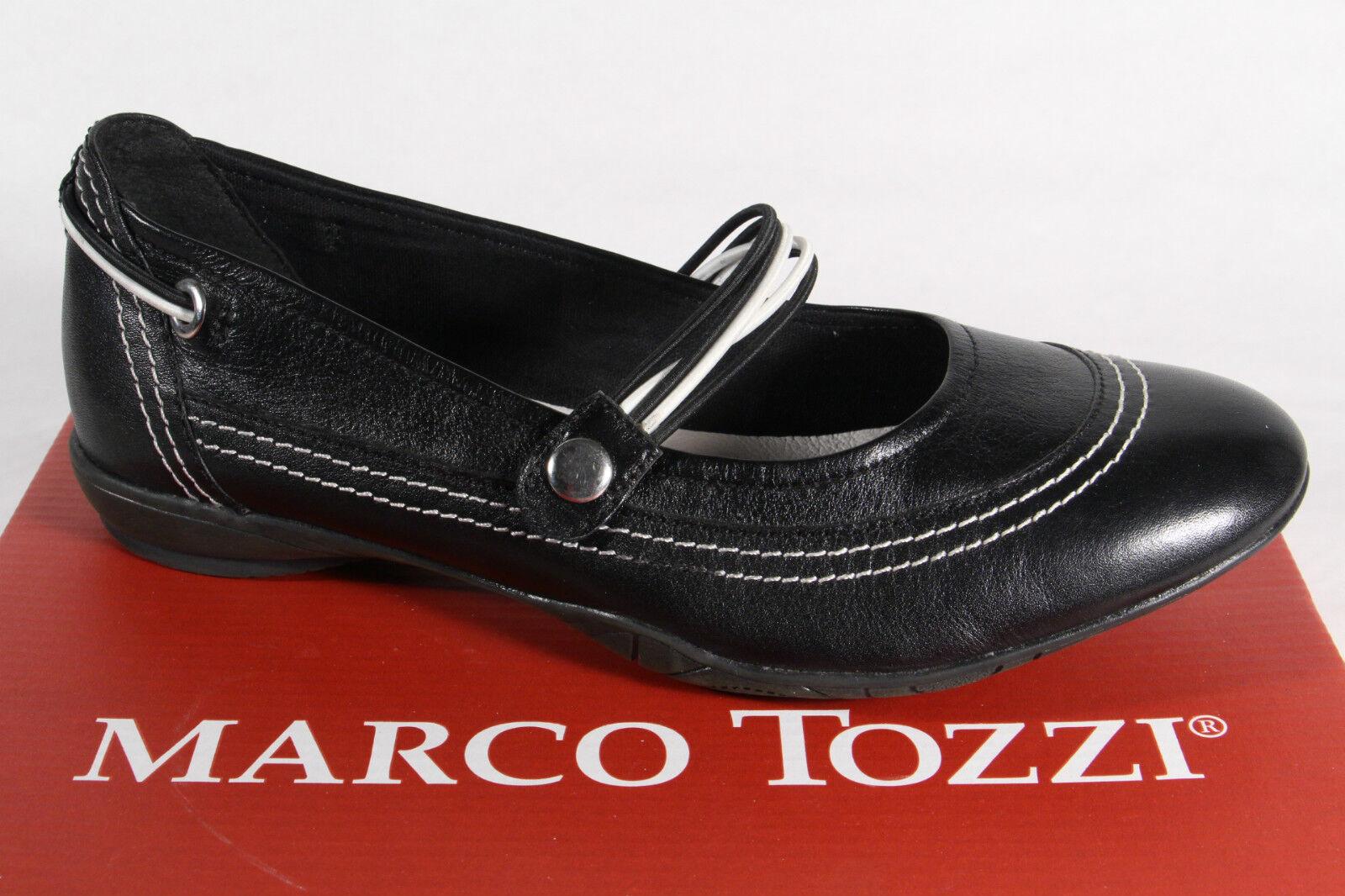 Marco Tozzi Ballerine Vera Scarpe Basse Nero , Vera Ballerine pelle Nuovo 438e76