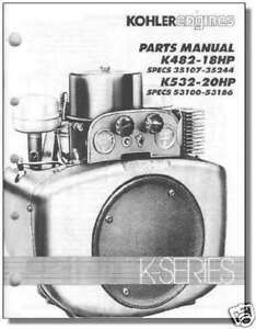 tp 2419 parts manual k482 k532 kohler engine ebay rh ebay com kohler repair manual 12 hp engine kohler repair manual download