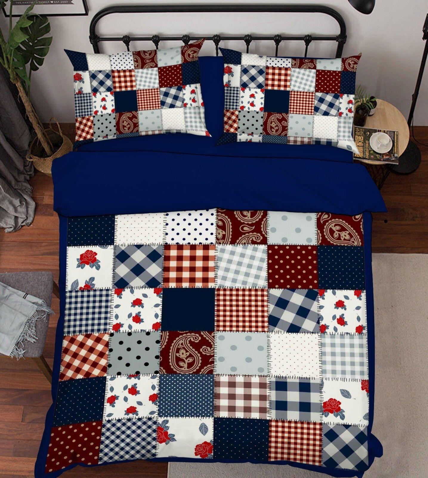 3D Painted Lattice 6 Bed Pillowcases Quilt Duvet Cover Set Single Queen AU Carly