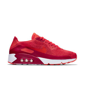 85ba75a2f89c44 Nike Air Max 90 Ultra 2.0 Flyknit UK 9 Bright Crimson Red Trainers ...
