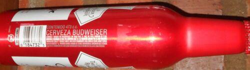 empty  Bottle Beer aluminum Budweiser Imported Uruguay  #502665