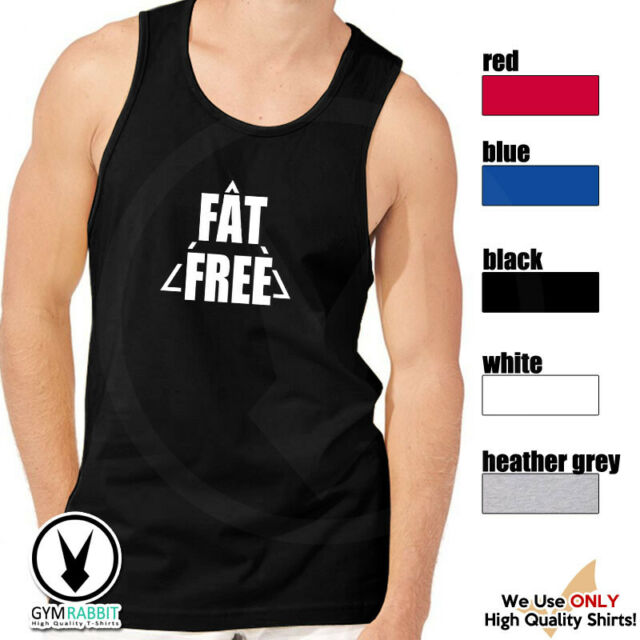 Men/'s Sweat Is Fat Crying Red Stringer Tank Top Workout Fitness Gym Muscle Tee