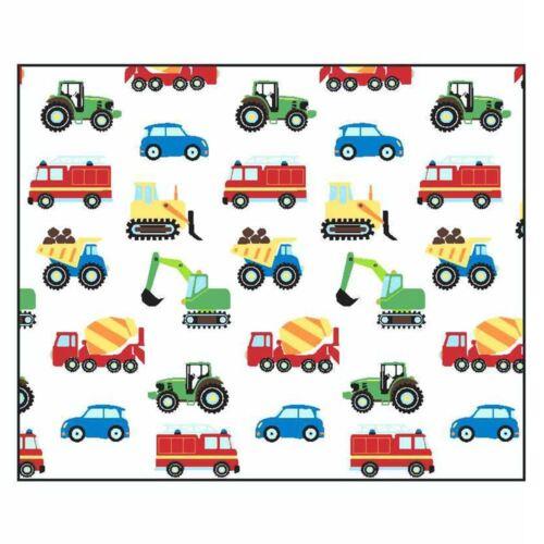 """Camions /& Transport rideaux doublés Enfants Chambre à coucher 66/"""" x 54/"""" 168 cm x 137 cm"""