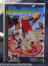 "Windjammers Video Game Box 2"" X 3"" Fridge / Locker Magnet. Neo Geo SNK"