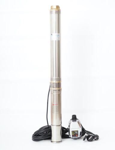 """Robuste Tiefbrunnenpumpe 90QJD311 3,5/"""" Sandverträglich 750W 6bar Steuerung PC-15"""
