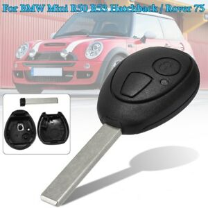 6f2e6ab37d8 Details about 2 Button Remote Key Fob Case Repair Shell For BMW Mini ONE  Cooper R50 R53 01-08