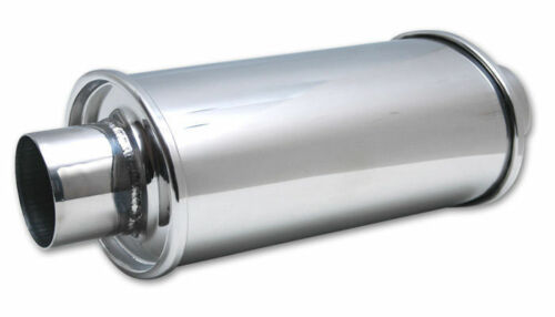 """Vibrant 1141 Performance Ultra Quiet Resonator Pipe 2.5/"""" In /& Out 14/"""" length"""