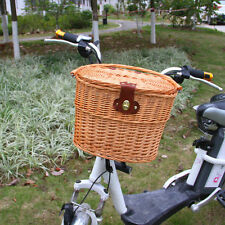 Wicker Willow Bicycle Shopping Basket Picnic Food Pet Storage