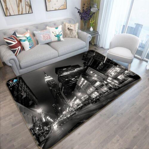 3D New York 313 Rutschfest Teppich Matte Raum Matte Qualität Elegant Teppich DE