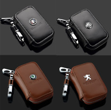 Men Women Leather Car Key Chain Ring Keychain Case Holder Zipped Bag Purse Pouch