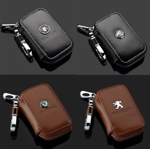 Men-Women-Leather-Car-Key-Chain-Ring-Keychain-Case-Holder-Zipped-Bag-Purse-Pouch