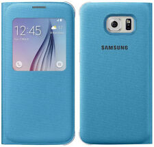 Genuine Samsung S VIEW FLIP CASE Galaxy S6 G920F smartphone book cover original