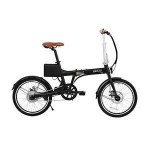 Bicicleta Eléctrica ebike Plegable Urbana RiderBike BK 20 Black 50Km 25Km/h 250W
