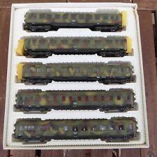 Liliput 837 H0-Schürzenwagen Set der Wehrmacht-Tarnfarbe camouflage DRG Ep2,OVP