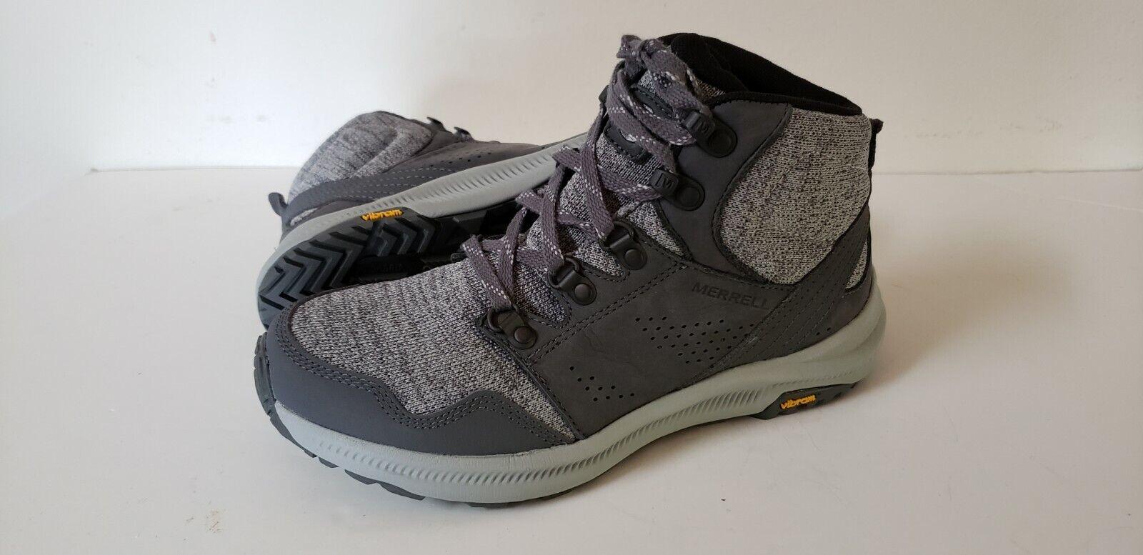 MW69 nuevo Merrell Ontario Mediados de punto Tobillo  botas Para Senderismo Y Vibram Mujer 7 gris  autorización