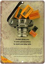 "Kodachrome Kodak Film vintage advertisment 10"" x 7"" reproduction metal sign"