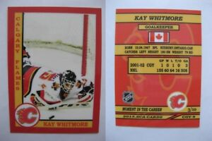 2015-SCA-Kay-Whitmore-Calgary-Flames-goalie-never-issued-produced-d-10-rare
