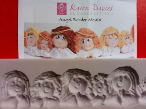 Karen Davies Angel Border Christmas Sugarcraft Mould  NEXT DAY DESPATCH