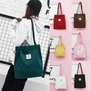 Casual-Women-039-s-Canvas-Corduroy-Tote-Bags-Handbag-Ladies-1-Bag-x-Shoulder-D6B0