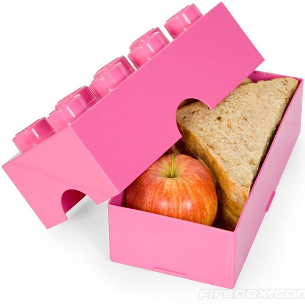 Lego Aufbewahrungsbox Brotzeitbox Kinder Schule Aufbewahrungsbox Lego pink Neu Offiziell 2828b3