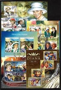 Lady-Diana-lot-de-10-series-obliteres-en-feuillet