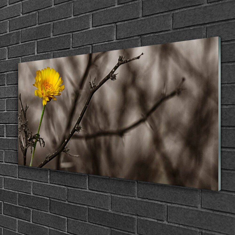 Tableau sur verre Image Impression 100x50 Floral Branche Fleur