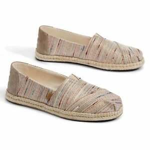 TOMS-Womens-Metallic-Slubby-Stripe-Shoes-Birch