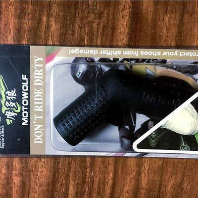1x Black Rubber Motorcycle Dirtbike Shifter Lever Sock Boots Shoes Protective