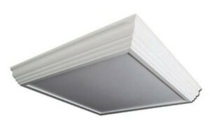 premium selection 5cb77 4c2d6 Details about LED 2x2 Crown Molding Surface Mount Light Fixture - 2 LED  Lamps Included