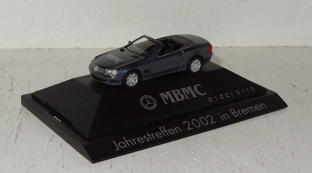 Sb374 Herpa Mercedes-Benz SL-Klasse r230 mBMC años modelo 2002 PC + embalaje orig. 1 87