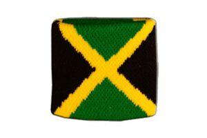 Schweißband drapeau drapeau Jamaïque 7x8cm Bracelet de sport  </span>