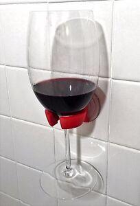 WineBuddy Shower Wine Glass Holder Bathroom Bathtub Bath