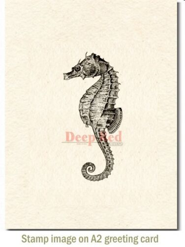 Deep Red Stamps Seahorse Rubber Cling Stamp