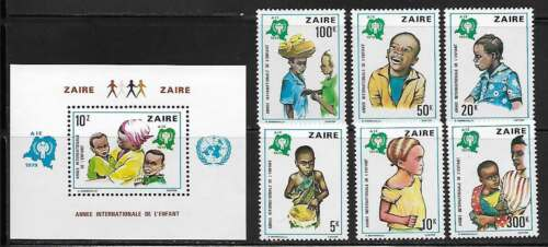 Zaire 921-27 International Year of the Child Mint NH (LB)